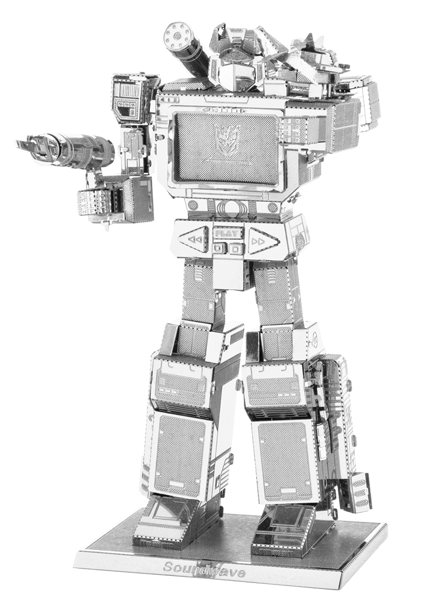 metal earth transformers - soundwave