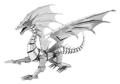 metal earth  Iconx silver dragon