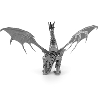 metal earth  Iconx silver dragon 1