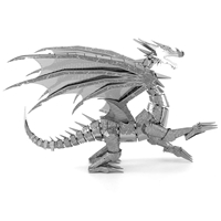 metal earth  Iconx silver dragon 2