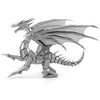 metal earth  Iconx silver dragon 4