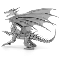metal earth  Iconx silver dragon 5