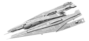 metal earth  Mass Effect - alliance cruiser