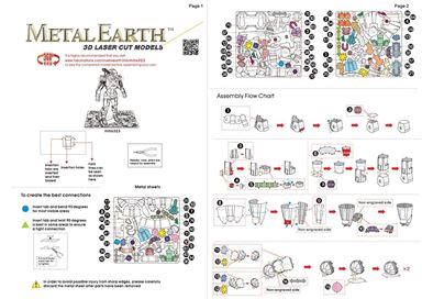 metal earth marvel - war machine instruction