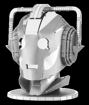 metal earth doctor who cyberman head