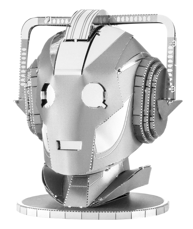 metal earth doctor who cyberman head