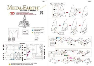 metal earth star wars - imperial shuttle instructions 1