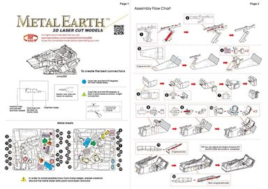 metal earth starwars first order snowspeeder instructions 1