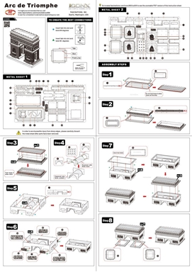 metal earth architecture - iconx arc de triomphe instructions 1