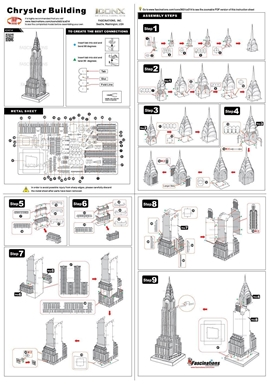 metal earth architecture - iconx chrysler builing instructions