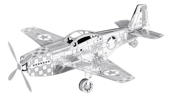 metal earth boeing - mustang p-51