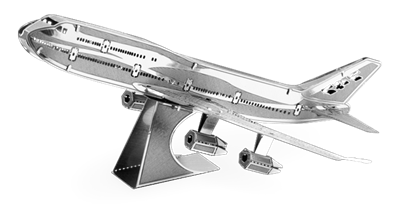 metal earth boeing commercial jet
