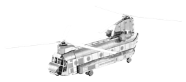 metal earth boeing CH-47 chinook