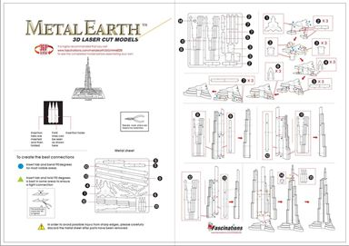 metal earthe  architecture - burj khalifa instruction