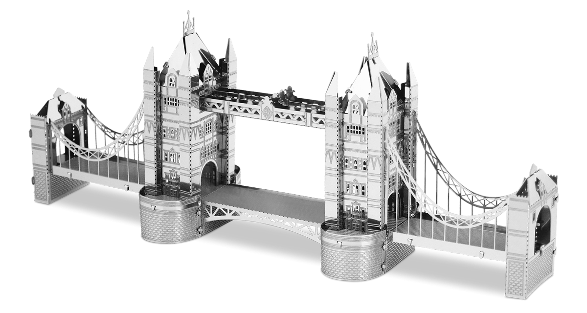 metal earth  architecture - london tower bridge