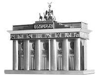 metal earthe  architecture - brandenburg gate