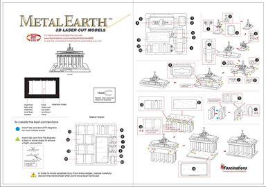metal earthe  architecture - brandenburg gate instruction