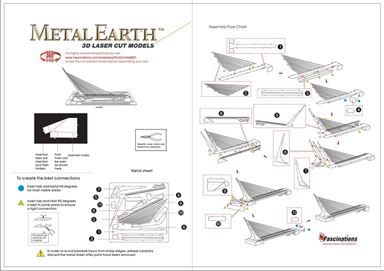 metal earth architecture - sundial bridge instruction