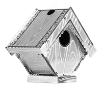 metal earth bird house