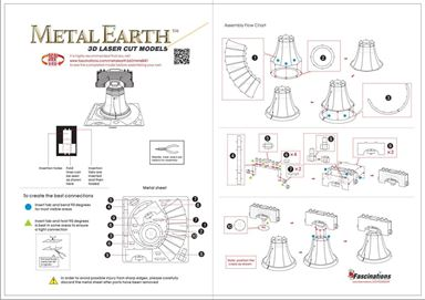metal earth models - liberty bell instruction