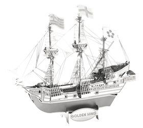 Metal Earth ships - metal golden hind