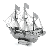 Metal Earth ships - metal golden hind 3