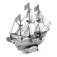 Metal Earth ships - metal golden hind 5