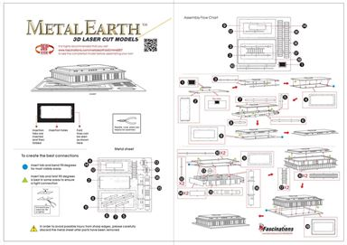 metal earth architecture - kennedy center instructions