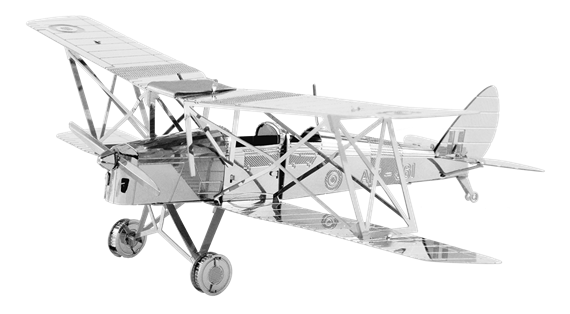 metal earth  the aviation - de havilland tiger moth