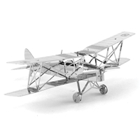 metal earth  the aviation - de havilland tiger moth 5