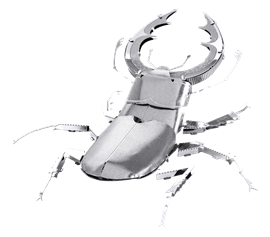 metal earth bugs - stag beetle