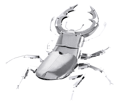 metal earth bugs - stag beetle
