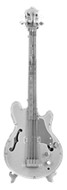 metal earth musical - electric bass guitar