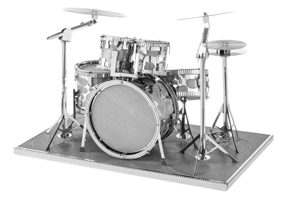 metal earth musical - drum set