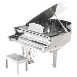 Metal Earth instruments - grand piano