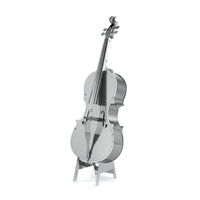 metal earth musical bass fiddle 2