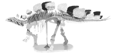 metal earth dinosaur - stegosaurus skeleton
