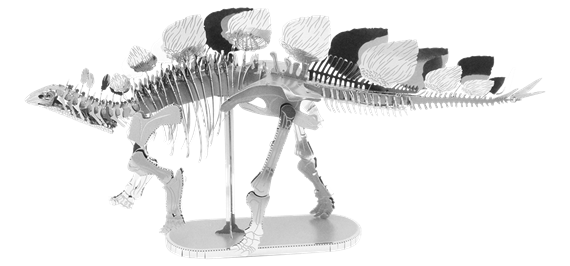 metal earth dinosaur - stegosaurus skeleton