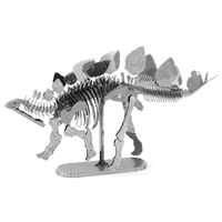 metal earth dinosaur - stegosaurus skeleton 4