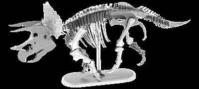 metal earth dinosaur - triceatops skeleton