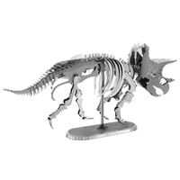 metal earth dinosaur - triceatops skeleton 2