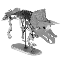 metal earth dinosaur - triceatops skeleton 3