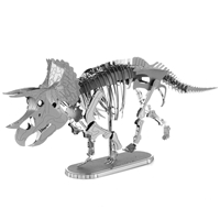 metal earth dinosaur - triceatops skeleton 4