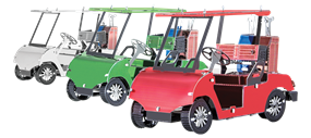Metal Earth vehicles - Golf cart set