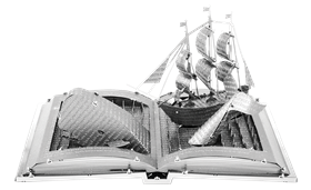 metal earth models - moby dick book sculpture