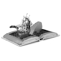 metal earth models - moby dick book sculpture 2