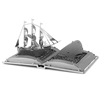 metal earth models - moby dick book sculpture 3