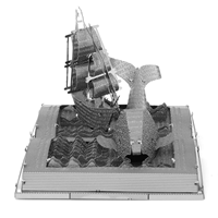 metal earth models - moby dick book sculpture 4