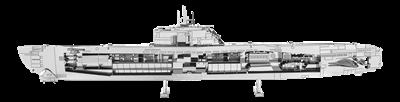 metal earth vehicle - German U-boat type XXI