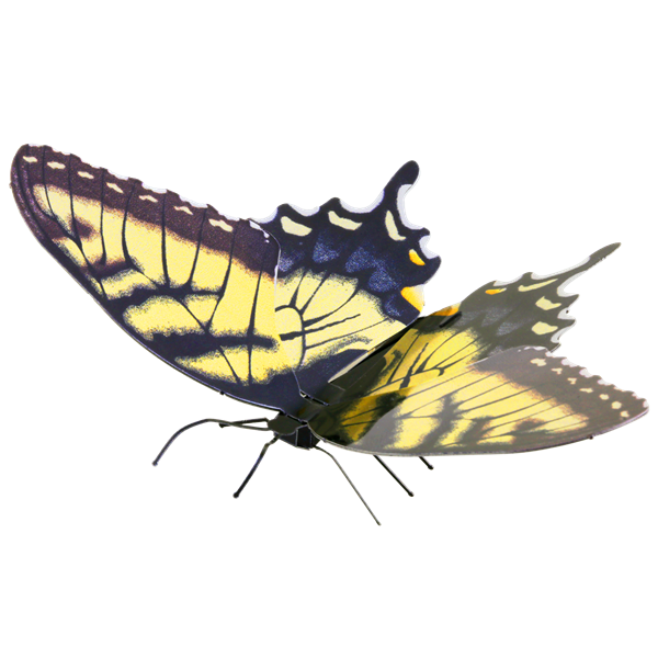 metal earth butterflies - tiger swallowtail